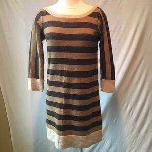 100% cashmere Vince brown/tan sweater dress